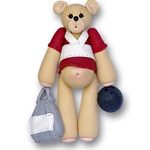 Bowler Belly Bear<br>Personalized Ornament