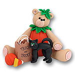 Belly Bear Pumpkin Ornament<br>Personalized <br>Halloween Ornament