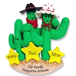 Cactus Family of 3<br>Personalized Family Ornament