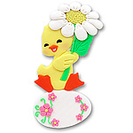 Baby Duck w/Daisy &amp; Egg<br>Personalized Ornament