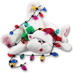Cat w/Christmas Lights<br>Personalized Ornament
