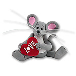 Merry Mouse Sweetheart<br>Baby Figurine
