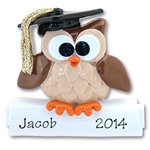 Wise Owl Graduate<br>Personalized Ornament