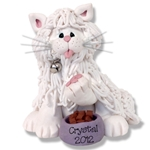 &quot;Crystal&quot; White Persian Kitty<br>Cat Personalized Ornament