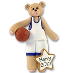 Basketball Belly Bear<br>Personalized Ornament