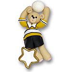 Volley Ball Belly Bear Personalized Ornament