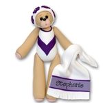 Swimmer Belly Bear Personalized Ornament - Limited Editon