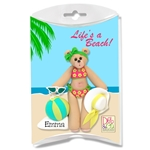 Belly Bear Sunbather Personalized Christmas Ornament In Custom Gift Box