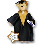 Belly Bear Graduate Personalized Christmas Ornament