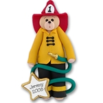 Belly Bear Fireman Personalized Ornament - Limited Edition