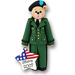 Army Belly Bear<br>Personalized Ornament