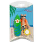 Belly Bear Surfer Personalized Ornament in Custom Gift Box