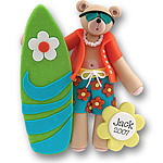 Belly Bear Surfer<br>Personalized Ornament<br>Limited Edition