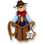 Belly Bear Cowboy<br>Personalized Ornament