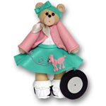 Belly Bear 50's Girl<br>Personalized Ornament