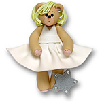 Bearilyn Monroe Belly Bear  Personalized Ornament - Limited Edition