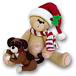Belly Bear w/Puppy<br>Personalized Ornament