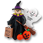 Belly Bear Witch<br>Personalized <br>Halloween Ornament
