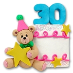 30th Year Birthday Cake<br>Personalized Ornament