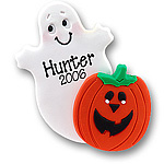 Ghost w/Sm. Pumpkin<br>Personalized Ornament