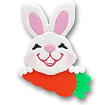 Bunny w/Carrot Personalized Easter Ornament