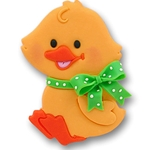 Baby Duck w/Green Bow Personalized Easter Ornament