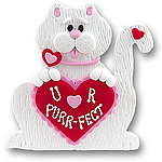 Valentine Cat Personalized Ornament