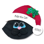 Solicd Black Kitty Cat Face Personalized Cat Ornament - Limited Edition
