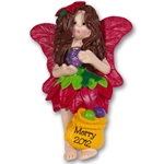 RESIN<br>Merry the Christmas Fairy<br>Personalized Ornament