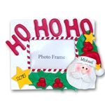 Santa<br>Personalized Ornament<br>RESIN Picture Frame