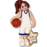 RESIN<br>Basketball Player-Female<br>Personalized Ornament