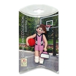 Basketball Player-Female - Brunette Personalized Ornament  in Custom Gift Box