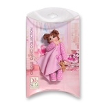 Little Girl Toddler w/Blanket - Brunette Personalized Ornament in Custom Gift Box