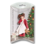 Little Girl Toddler w/Blanket and Red Pajamas - Brunette Personalized Ornament in custom Gift Box