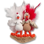 Half Baked Hen<br>Couple<br>Family Ornament