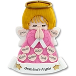 Large Angel w/9 Hearts<br>Family/Grandparents<br>Personalized Ornament<br>Limited Edition