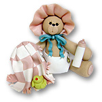 Bear w/Pink Blanket & Bonnet<br>Personalized Baby Ornament