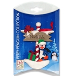 North Pole Petey Penguin Personalized Ornament in Custom Gift Box
