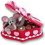 Merry Mouse in<br>Candy Box Figurine