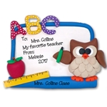 Owl w/Dry Erase Board Teacher / School Ornament - Limited Edition