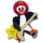 Hockey Petey Penguin<br>Personalized Ornament - Limited Edition