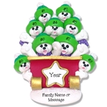 Polar Bear Family of 9 Personalized Ornament - Limited Edition
