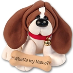 """Barney"" Basset Hound<br>Dog Ornament"