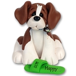 """Happy"" Beagle<br>Dog Ornament"