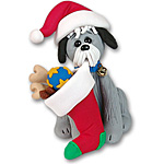 """Scruffy"" Christmas Mutt Dog Ornament"