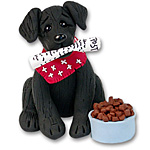 """Zeppelin"" Labrador Retriever<br>Black Lab Dog Ornament"