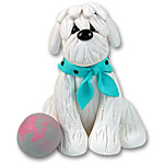 """Turtle"" Maltese Dog Ornament"