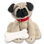 """Duke"" the Pug<br>Dog Ornament"