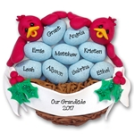 Rockin' Robin<br>Family of 9 or 11 Personalized Ornament<br>Limited Editon