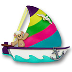 Sailboat w/1 Bear<br>Personalized Family Ornament